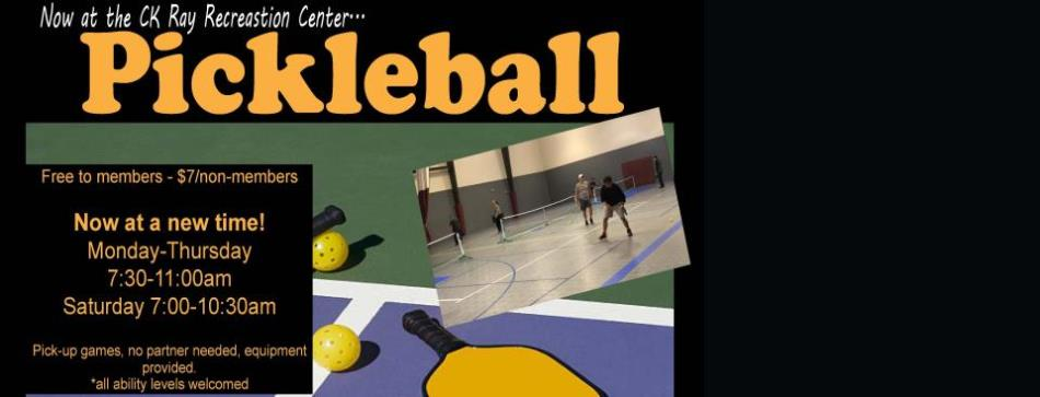 pickleball scrolling banner
