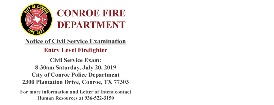 Fire Civil Service Exam July 20 2019
